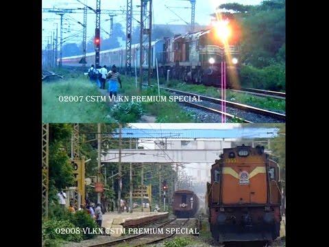 PREMIUM TRAIN TO MUMBAI : 02007/8 MUMBAI VELANKANNI MUMBAI PREMIUM SPECIAL