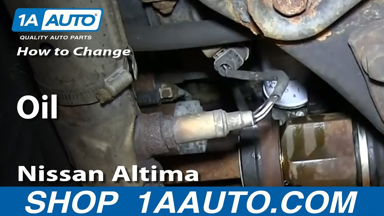 How To Do An Oil Change Nissan Altima 1998 01 Youtube