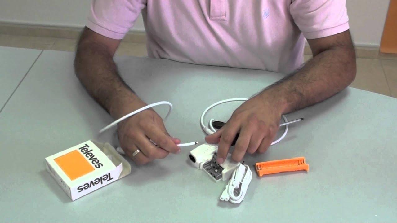 Instalaci n de amplificador de interior de vivienda televes 5605 youtube - Antena tdt interior casera ...