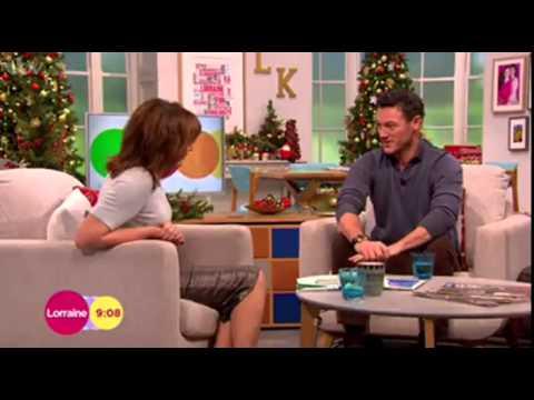 Luke Evans   Lorraine ITV December 5, 2014