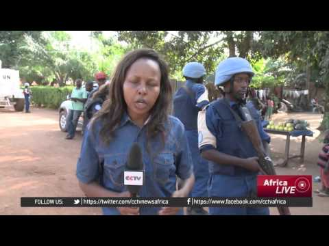 Local police and UN Peacekeepers maintain order in Central African Republic