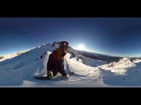 WOOW!!! Сноубординг в 360 градусов! Панорамное видео для очков виртуальной реальности!