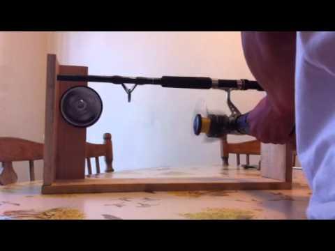 DIY fishing reel line winder - YouTube