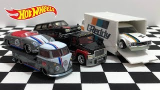 Unboxing Hot Wheels Team Transport Car Culture Trucks!