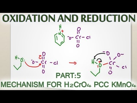 Alcohol Oxidation Mechanism with H2CrO4, PCC and KMnO4