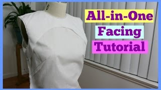 How to Sew: All in One Facing | Sewing 101 Ep. 12 | Crafty Amy