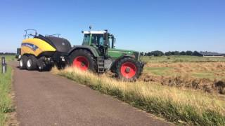 Fendt favorit 824 turboshift met new Holland 1270 bigbaler