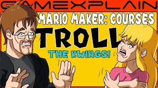 SUPER MARIO MAKER: GameXplain Courses TROLL Everyone