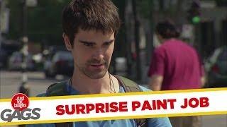 Surprise Paint Job on Luxury Car!