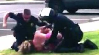 Police Beat Up Unarmed Mother in Front of Her Kids