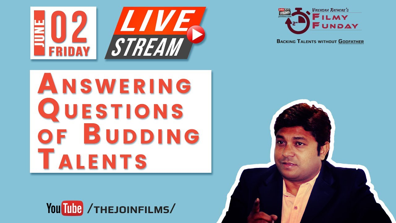 02 JUNE - LIVE SEMINAR - Virendra Rathore's Filmy Funday | Joinfilms