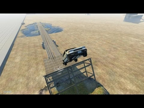 BeamNG Drive Alpha Insane Jump Test 1 HD
