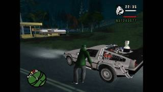 GTA SAN ANDREAS:Back To The Future II:CJ goes back in time