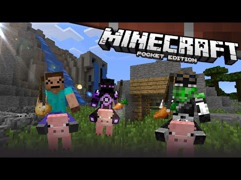 Carreras de Cerdos de ElRichMC y EsVandal Minecraft Pocket Edition Review Español