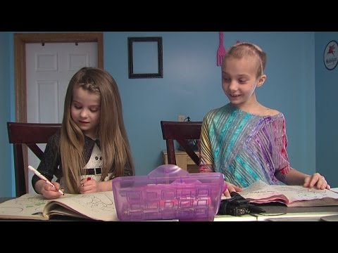 5 yr. old donate hair to help friend