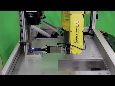 Robotic Laser Marking System with FANUC LR Mate Robot – LNA Laser Technology