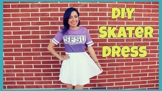 DIY Skater Dress T Shirt Transformation | Crafty Amy