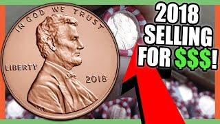 2018 PENNIES WORTH BIG MONEY - 2018 LINCOLN CENT COINS WORTH MONEY!!!