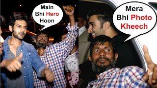 Kartik Aryan And Aadar Jain Funny Moment With A Drunk Man