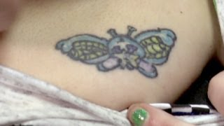 Shrunken Butterfly - America's Worst Tattoos