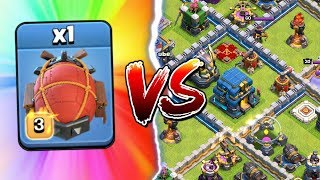 BATTLE BLIMP ONLY vs TOWN HALL 12 - Can We Win? Clash of Clans Update Challenge!