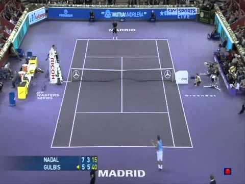 Madrid 2008 - 2nd Round - Ernest Gulbis vs Rafael Nadal - Highlights