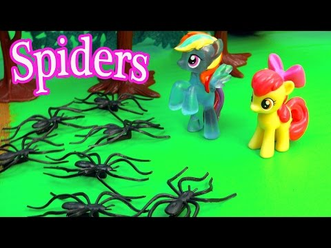 Mlp Airport - Spider Attack - My Little Pony Travel Part 16 Apple Bloom Video Series video