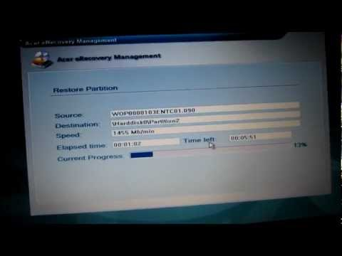How to factory reset   restore an Acer Aspire 5735 and other Acer systems