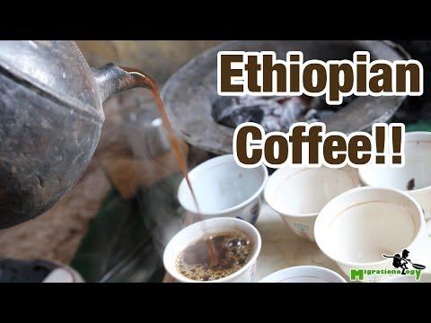 Drinking Ethiopian Coffee in Addis Ababa