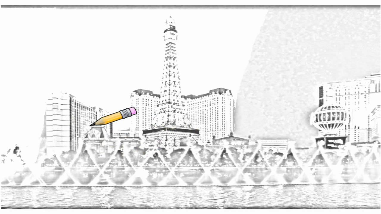 Viewing Gallery For - Las Vegas Skyline Drawing