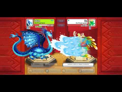 dragon city peleando con dragon arcangel