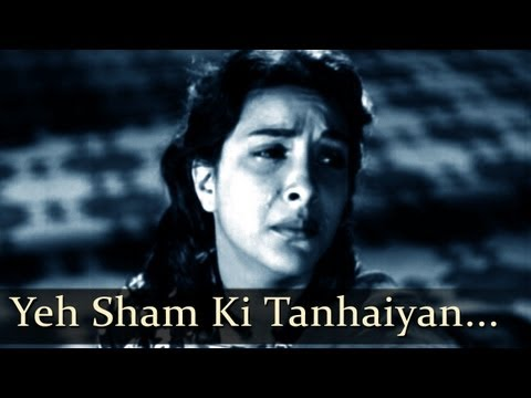 Aah - Yeh Sham Ki - Nargis - Bollywood Sad Songs - Lata Mangeshkar...