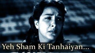Aah - Yeh Sham Ki - Nargis - Bollywood Sad Songs - Lata Mangeshkar - Mukesh