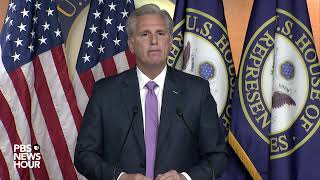 WATCH: House Minority Leader McCarthy speaks as Democrats draft impeachment articles