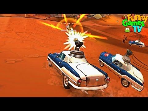 Мультики боевые машинки Сражаемся на тачках с пушками игра Metal Carnage