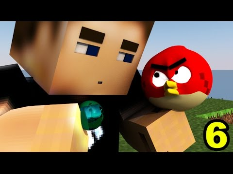 ANGRY MINECRAFT part 6 (Angry Birds Animation) #TheDress