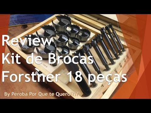 Review Kit de Brocas Forstner 18 peças