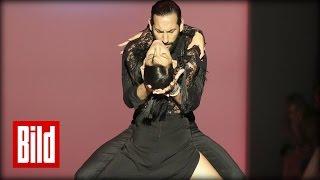 Rebecca Mir und Massimo tanzen heißen Tango auf der Fashion Week ( Let's Dance )
