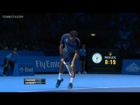 Roger Federer Vs Gasquet Barclays ATP World Tour Finals 2013 Group B 1st Set