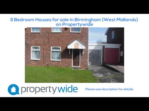 3 Bedroom Houses for sale in Birmingham (West Midlands) on Propertywide