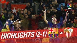 Download Resumen de FC Barcelona vs Sevilla FC (2-1) 3Gp Mp4