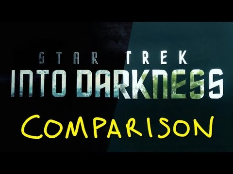 Star Trek Into Darkness New Trailer - Homemade Side By Side Comparison