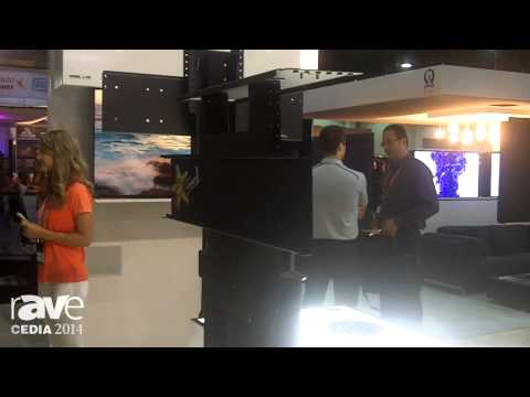 CEDIA 2014: Nexus 21 Concealment Systems Unveils L-90 Large Motorized TV Lift
