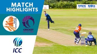 Netherlands vs Scotland - Match Highlights | ICC U19 Cricket World Cup Europe Qualifier | ICC