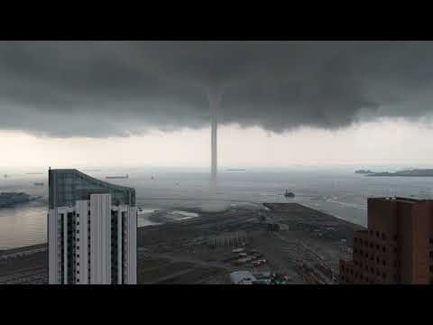 Singapore: Tornado over water up close! 11 May 2019