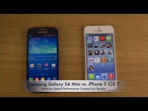Samsung Galaxy S4 Mini vs. iPhone 5 iOS 7 - Browser Speed Performance Comparison Review