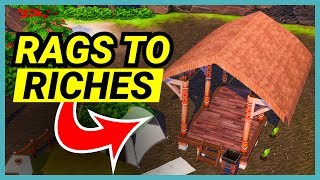 We're building a hut - 🌴 Rags to Riches (Part 6)