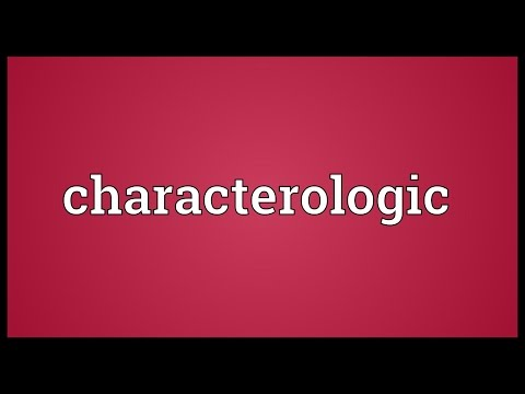 Header of Characterologic