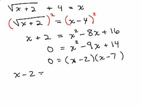 Solving Radical Equations 6