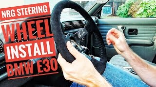 HOW TO INSTALL A STEERING WHEEL AND QUICK RELEASE ON A BMW E30  BERTY 30 PART 4